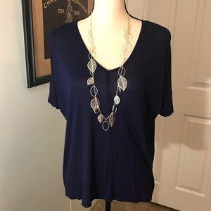 Zara navy blue top